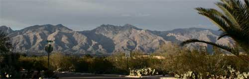 Beautiful Mountain View in Tucson, Arizona
