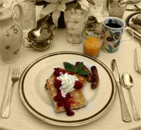 Breakfast Waffle at Mon Ami B&B