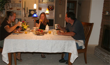 Bed and Breakfast Guests Enjoying Breakfast at Mon Ami B&B
