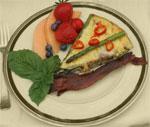 Breakfast Fritata at Mon Ami B&B
